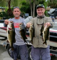 Cliff Semonski and Keith Braun with 15.76 lbs and first place Lake Cypress